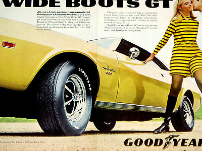 1969 AMC JAVELIN SST-SEXY VINTAGE GOODYEAR AD-print/poster/sign/photo/art-1970