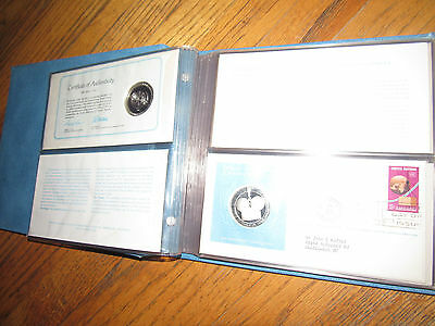 1976 United Nations Medallic First Day Covers- 5 Proof Silver Medals & Stamps