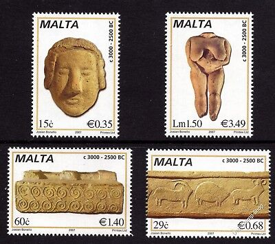 Malta 2007 Prehistoric Sculptures Complete Set SG1515-8 Unmounted Mint