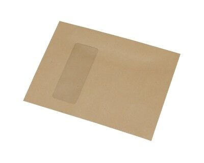 133x180mm Manilla Envelopes, Gummed, Mailer, Window (90x35/35l,17up) - FREE P&P