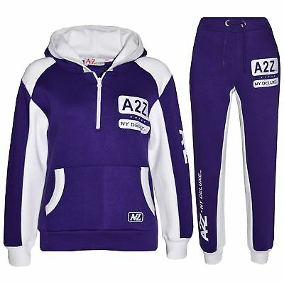 Kids Jogging Suit Boys Girls Designer's Tracksuit Zipped Top & Bottom 5-13 Year