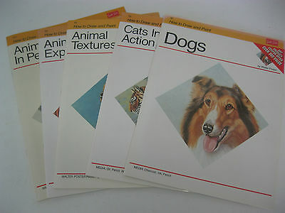 Rare New Walter Foster Art Books How to Draw and Paint Animals PL choose your #