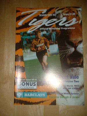 1992/93  Hull City V Port Vale
