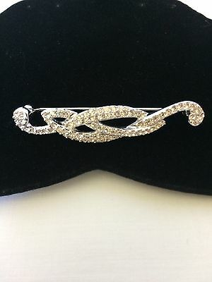 Authentic Swarovski Swan Signed Abstract Brooch