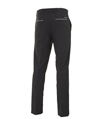 "Stromberg Mens Foreway Mijas Funky Golf Trousers Black Stretch Waist 38"" Leg 29"""