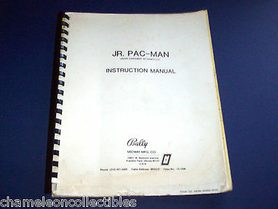 JR PAC MAN By BALLY MIDWAY 1984 ORIG VIDEO ARCADE GAME SERVICE OPERATIONS MANUAL