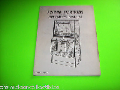 FLYING FORTRES By ELECTRA 1976 MODEL C VIDEO ARCADE GAME SERVICE REPAIR MANUAL