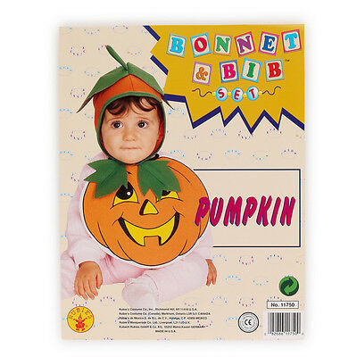 NEW Bib & Bonnet Infant Pumpkin Halloween Costume