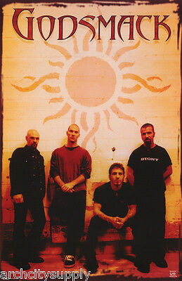 Lot Of 2 Posters: Music : Godsmack - All 4 Group Pose -  Free Ship #6208  Lc13 D