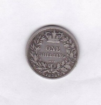 1836 William Iiii Silver Shilling In Used Fine Condition