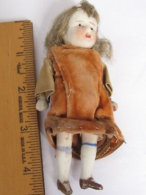 "Antique Small 4 1/4""  All Bisque Doll Nippon"