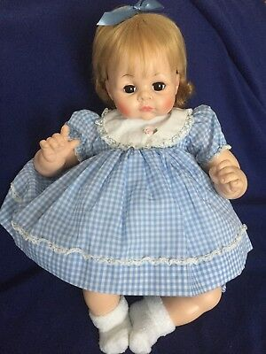 "MADAME ALEXANDER Vintage 1965 Original PUSSY CAT 22"" CRIER Baby Doll"