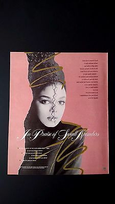 """Janet Jackson """"in Praise Of Small Numbers"""" Rare Original Print Promo Poster Ad"""