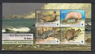 STAMPS Ms. 2011 Animals Joint Issue WWF AAT Christmas Cocos Keeling  MNH  LOTxx
