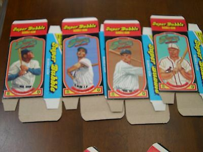 1985 Donruss Super Bubble HOF Sluggers Complete Set (8) Flat Boxes NRMT