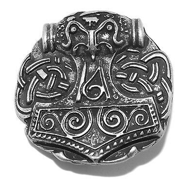 Viking Thors Hammer Pewter Rivet Concho