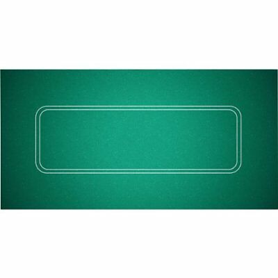 "Poker Texas Hold'em Layout 36""x 72"" Table Top Green Mat Pad Portable Felt Cover"
