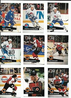 Collection 130 NHL Pro Set Hockey Cards, 1991