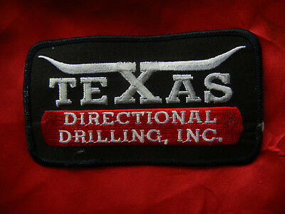 """TEXAS DIRECTIONAL DRILLING, INC. oilfield PATCH 4.5"""" x 2.5""""  embroidered NEW"""