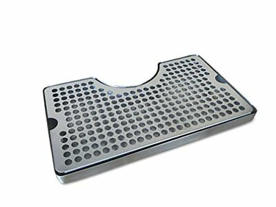 Non-Slip Rubber Padded Stainless Steel Drip Tray with Tower Cutout by Proper Bar