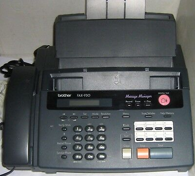 BROTHER FAX - 930 - Message Manager - Digital TAD + leads and receiver
