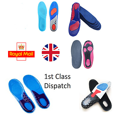 New Wide Range GEL Work Boots Feet Arch Support Orthotic Shock Shoe Insoles