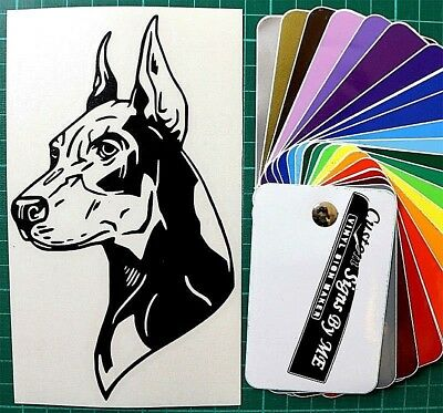 Doberman Dog Sticker Vinyl Decal Adhesive Car Wall Window Door Laptop BLACK