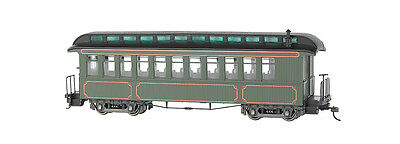Bachmann On30 26202 Olive, Unlettered - Coach/Obser. w/ Lighted interior