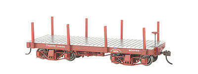Bachmann On30 26511 18 ft. Flat Car - Oxide Red, Data Only (2 per box)