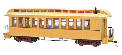 Bachmann On30 26204 Painted Unlettered Buff & Tan - Coach/Obser. w/ Lighted int.