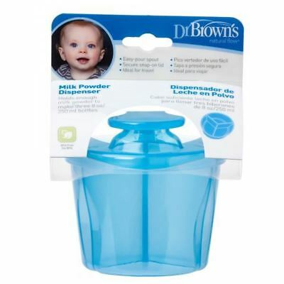Dr Brown's Options Milk Powder Formula Dispenser with 3 Compartments - Blue