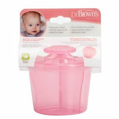 Dr Brown's Options Milk Powder Formula Dispenser with 3 Compartments - Pink