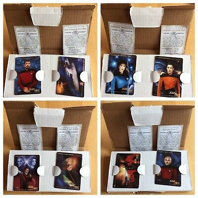 The Hamilton Collection: Set of 8 Star Trek Next Generations Porcelain Cards