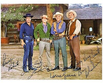 "CAST OF TV SHOW ""BONANZA"" w/ *REPRINT* AUTOGRAPHS  8X10 PUBLICITY PHOTO (FB-511)"