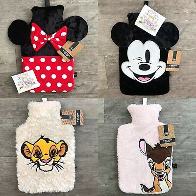 2L Hot Water Bottle Disney Ladies Girls Mens Boys Kids Primark Novelty Gift
