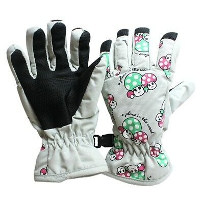 Non-slip, for 2-4 year old children, ski skate gloves (White Moon) Q4Y9