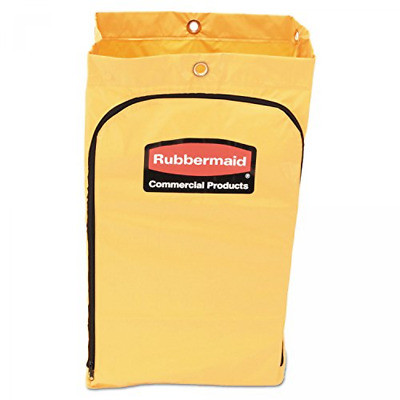 Rubbermaid FG618300 Vinyl Replacement Bag with Zipper for Cleaning Cart 17.25...
