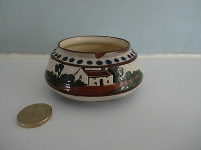 "Vintage Motto Ware Watcombe Pottery-Small sugar bowl""Du'ee help yourself"" 1476"