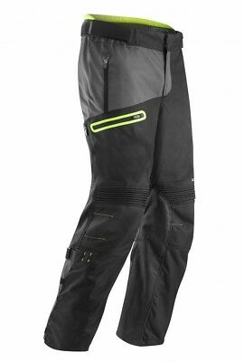 Pantaloni Pants Enduro One Gamba Larga Acerbis Baggy Nero Giallo Fluo Tg 36 (50)