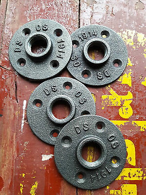 4 x 3/4 Inch Malleable Iron Floor Flange, Industrial Pipe Fittings Flanges