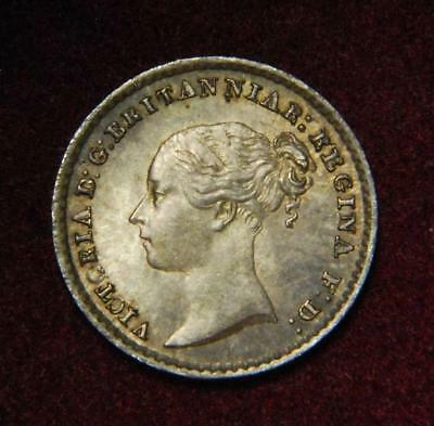 GB Victoria silver Maundy penny 1d 1860 - GREAT!!!