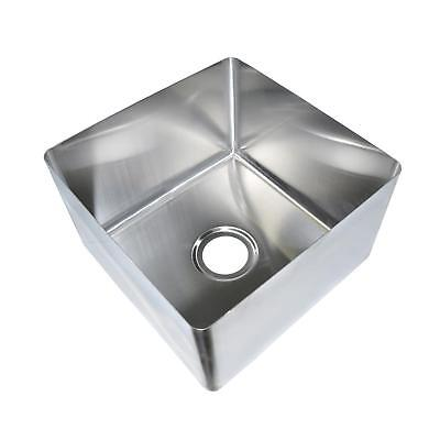 "BK Resources 24"" x 24"" x 12"" One Compartment Stainless Steel Weld-In Sink"