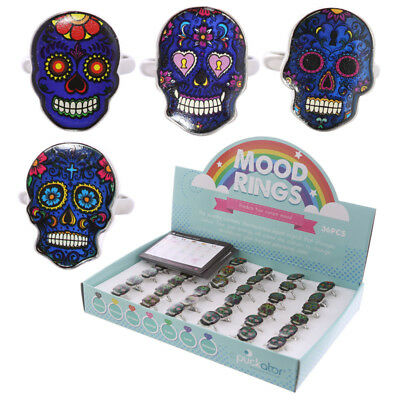 Candy Skulls Day Of The Dead Childrens Mood Rings