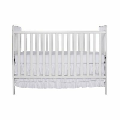Dream On Me Classic 3 in 1 Convertible Stationary Side Crib White New