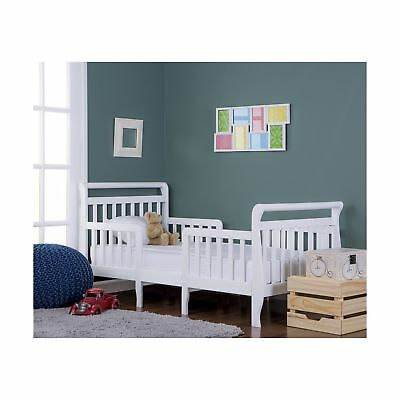 Dream On Me Emma 3 in 1 Convertible Toddler Bed White New