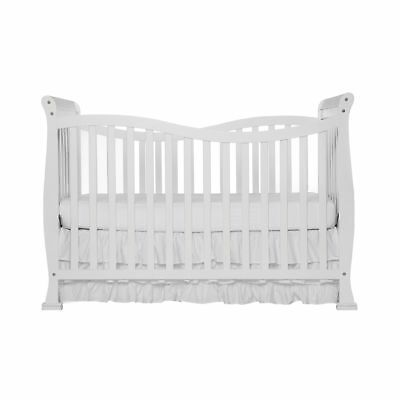 Dream On Me Violet 7 in 1 Convertible Life Style Crib White New