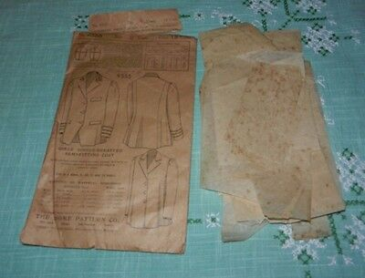 Vintage 1908 The Home Pattern Co. Girls Single Breasted Coat Sewing Pattern