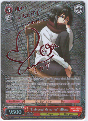 "Weiss Schwarz Attack on Titan Vol.2 ""Embraced Memories"" Mikasa AOT/S50-E052SP SP"