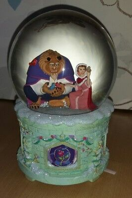 Disney Beauty Beast Schöne Biest Schneekugel Snow Globe Art of Belle Music Musik