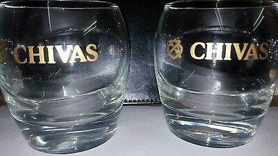 2 x New Chivas Regal Whisky Glasses
